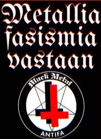 Metallia fasismia vastaan -tarranippu